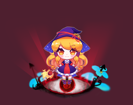 Fire Witch CHibi on Eye Ball