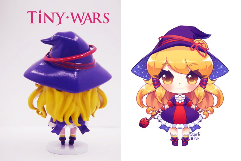 TinyWars Chibi Fire Witch Figure