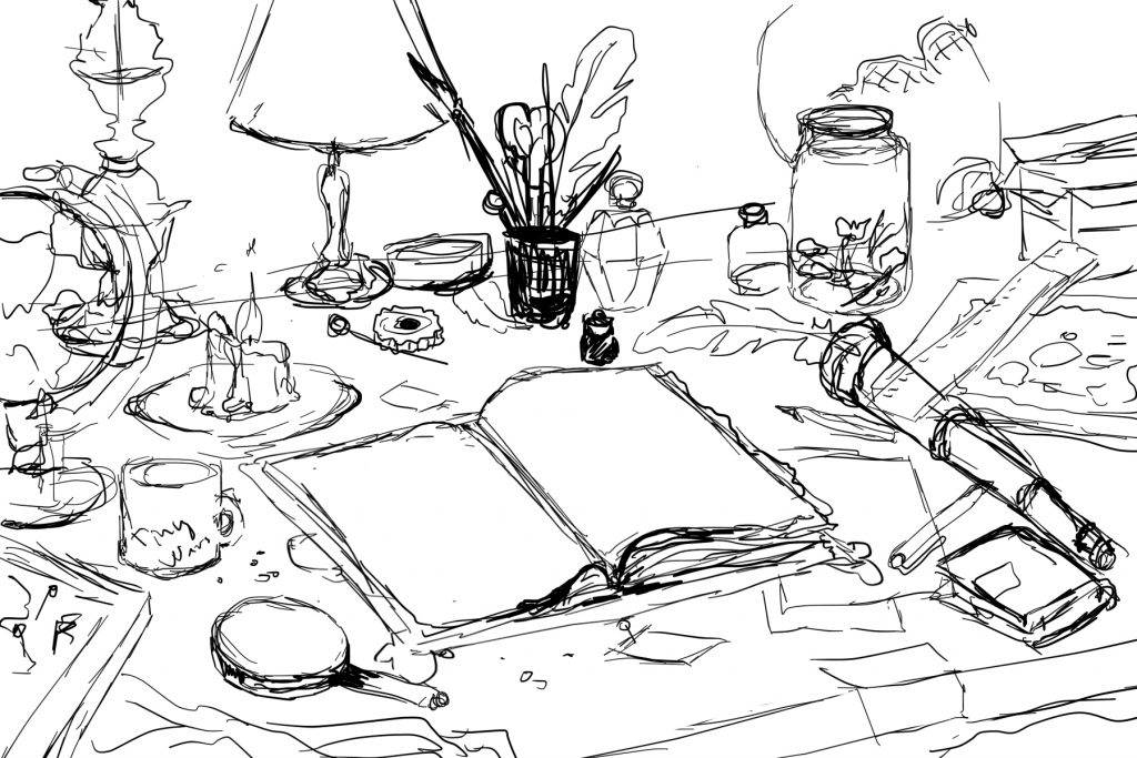messy-table-sketch
